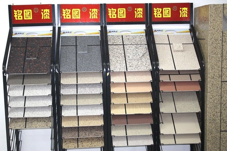 Environment Friendly Granite Spreadable Stone Coating UV Resistance